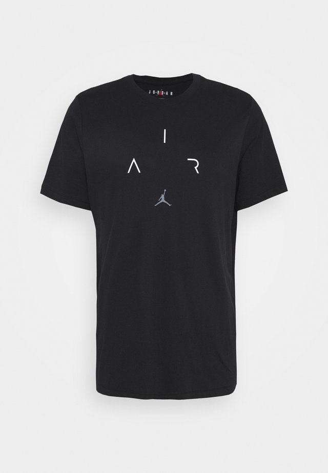 AIR CREW - Print T-shirt - black/white/smoke grey