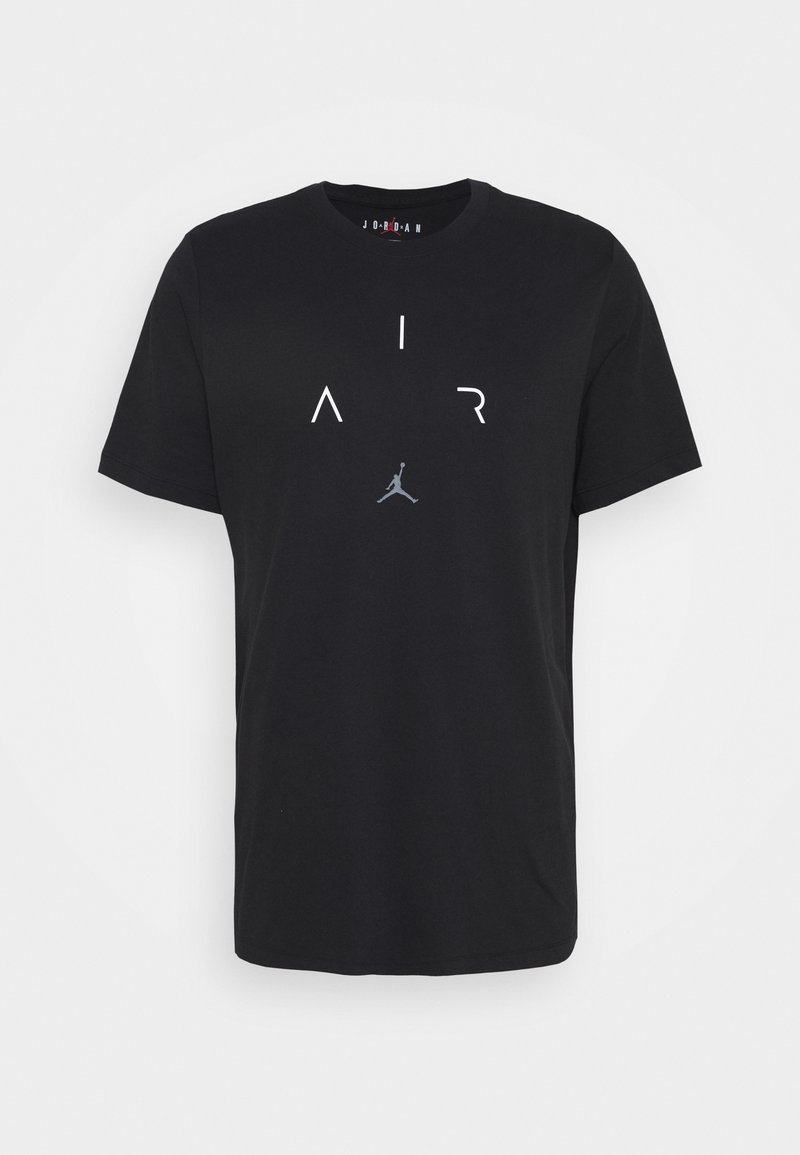 Jordan - AIR CREW - Camiseta estampada - black/white/smoke grey