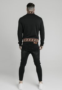 SIKSILK - DISTINCTION JACQUARD ZIP THROUGH TRACK - Cardigan - black - 2