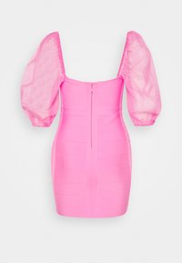Missguided Petite - RUCHED MILKMAID BANDAGE MINI DRESS - Vestido de cóctel - pink - 1