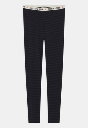 SHINY STRIPED  - Leggings - black