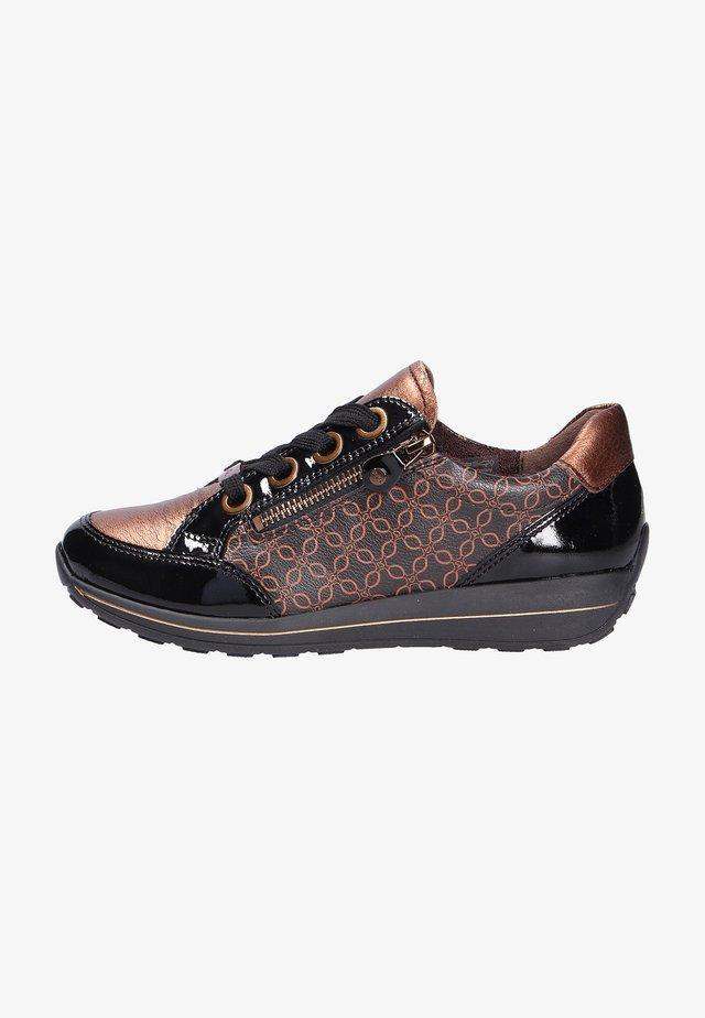 Sznurowane obuwie sportowe - schwarzmarronemoro