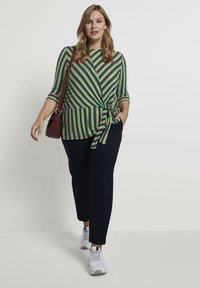 MY TRUE ME TOM TAILOR - MIT KNOTEN-DETAIL - Long sleeved top - multi-coloured - 1