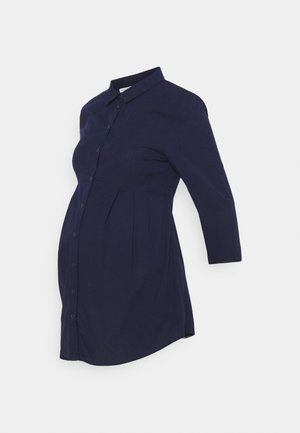NURSING BUTTON-DOWN BLOUSE - Skjorte - dark blue