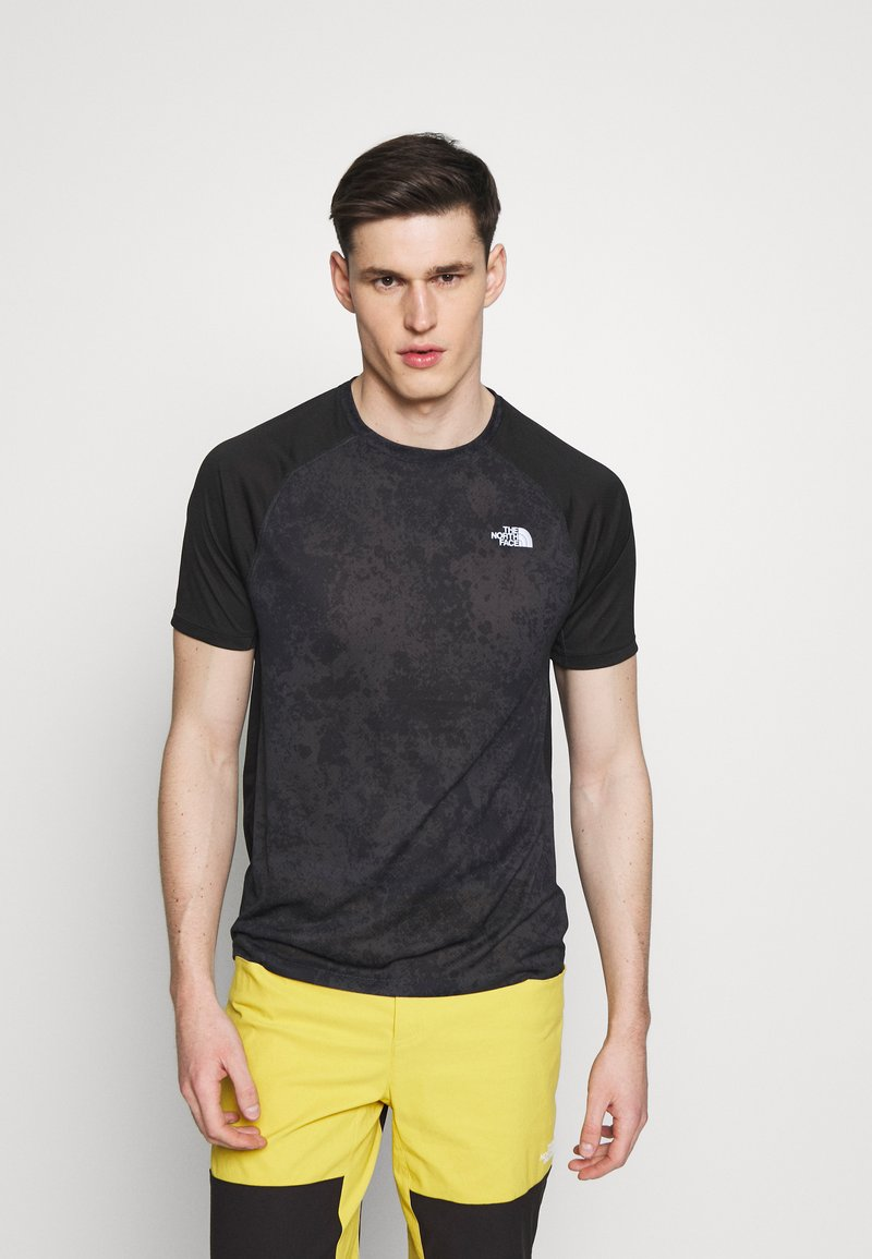The North Face - MENS AMBITION - T-shirt med print - dark grey/black