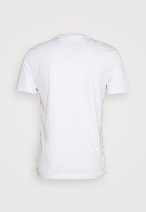 Calvin Klein CHEST BOX LOGO - T-shirt z nadrukiem - white/biały Odzież Męska YXJC