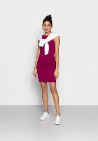 Calvin Klein Jeans - MICRO BRANDIN RACER BACK DRESS - Jerseyjurk - purple - 1