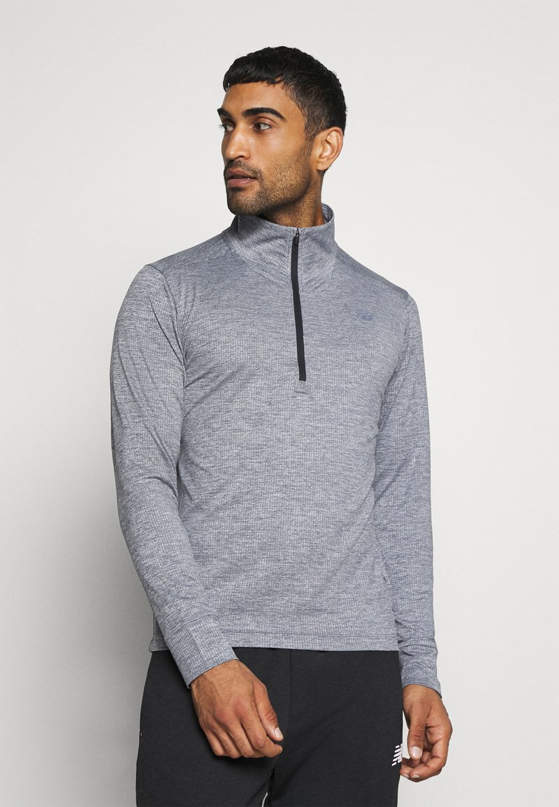 New Balance - FORTITECH QUARTER ZIP - Long sleeved top - lead