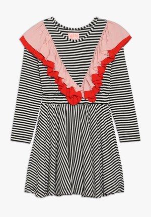 MONA - Žerzejové šaty - black/white