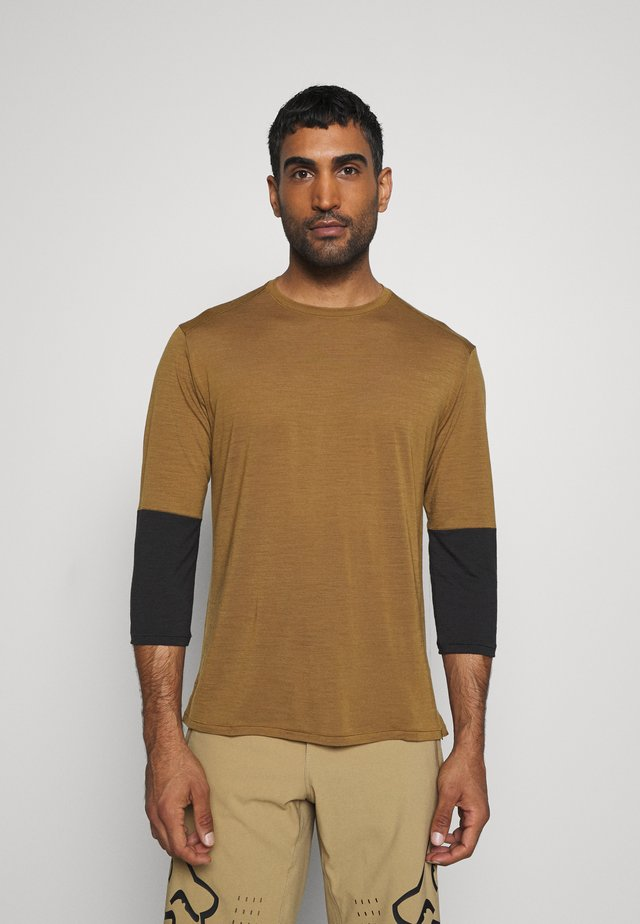 3/4 SLEEVE BIKE - Langærmede T-shirts - mulch/brown