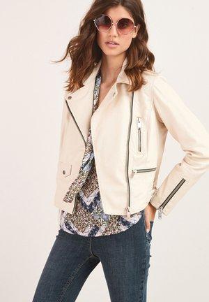 Leather jacket - off-white