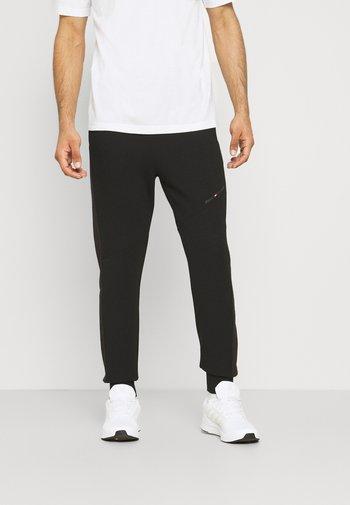 BLOCKED TERRY PANT - Pantaloni sportivi - black