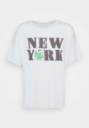 NEW YORK DINER OVERSIZED TEE - Triko spotiskem - blue