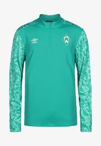 Umbro - WERDER BREMEN HALF ZIP - Sports shirt - spectra green / ice green - 0