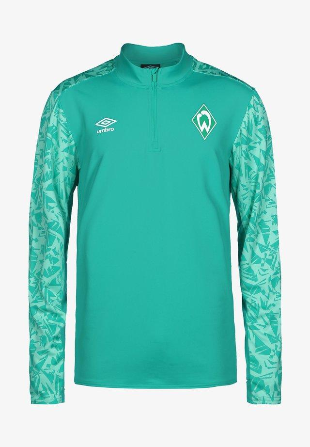 WERDER BREMEN HALF ZIP - Sports shirt - spectra green / ice green
