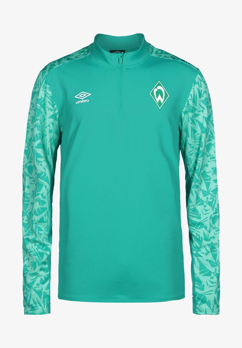 Umbro - WERDER BREMEN HALF ZIP - Sports shirt - spectra green / ice green