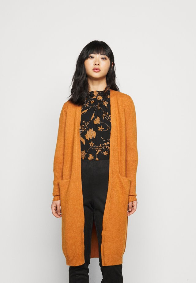 VIRIL LONG CARDIGAN - Vest - pumpkin spice melange
