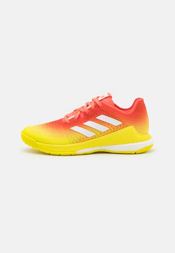 CRAZYFLIGHT - Volleyball shoes - solar red/footwear white/acid yellow