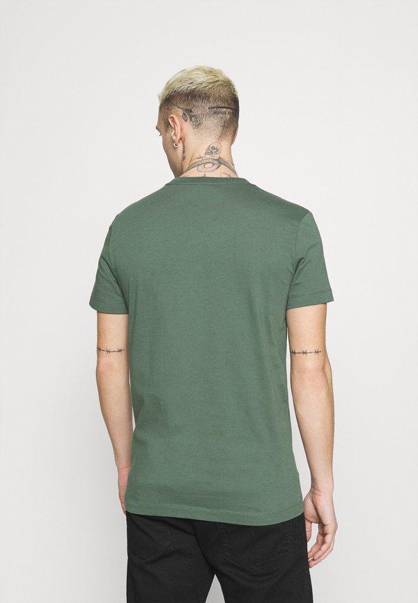 Calvin Klein Jeans SLIM FIT 2 PACK - T-shirt basic - duck green/black/oliwkowy Odzież Męska QNUF
