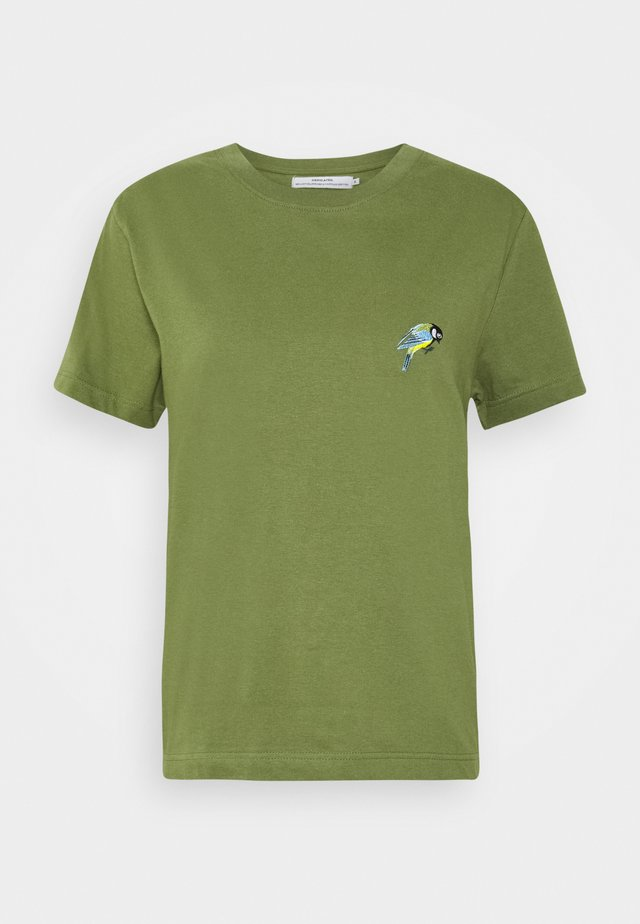 MYSEN LITTLE BIRD - T-shirt med print - leaf green