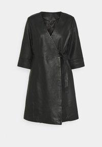 YAS - YASRASHIDA 3/4 WRAP DRESS - Day dress - black - 0