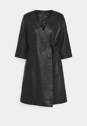 YASRASHIDA 3/4 WRAP DRESS - Day dress - black