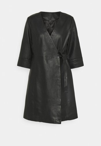 YASRASHIDA 3/4 WRAP DRESS - Day dress - black