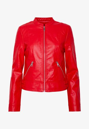 VMRIAMARTA  - Faux leather jacket - goji berry