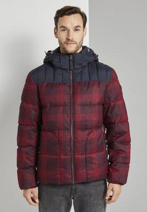 MIT KAPUZE - Winter jacket - red printed check design
