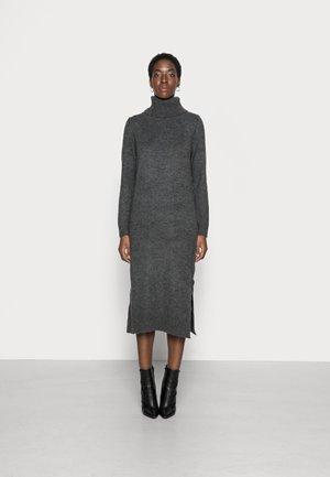 ONLBRANDIE ROLL NECK DRESS - Strikket kjole - dark grey melange
