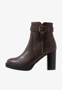 Anna Field - High heeled ankle boots - dark brown - 1