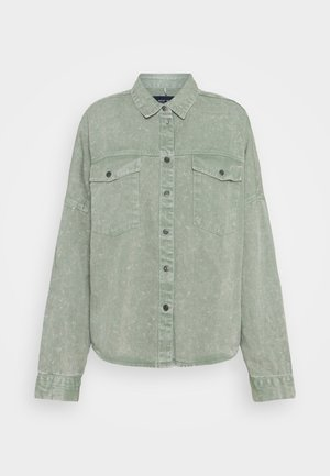NMRICA OVERSIZE ACID - Button-down blouse - slate gray