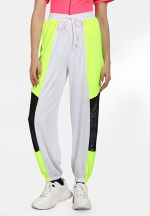 Tracksuit bottoms - neon gelb schwarz