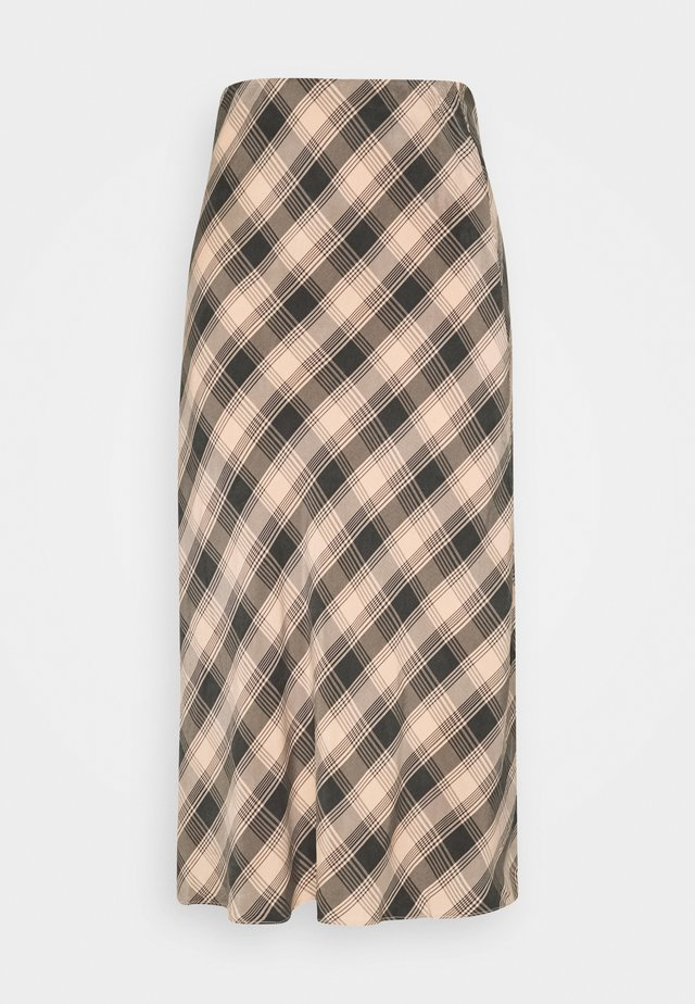 Maxi skirt - peach check