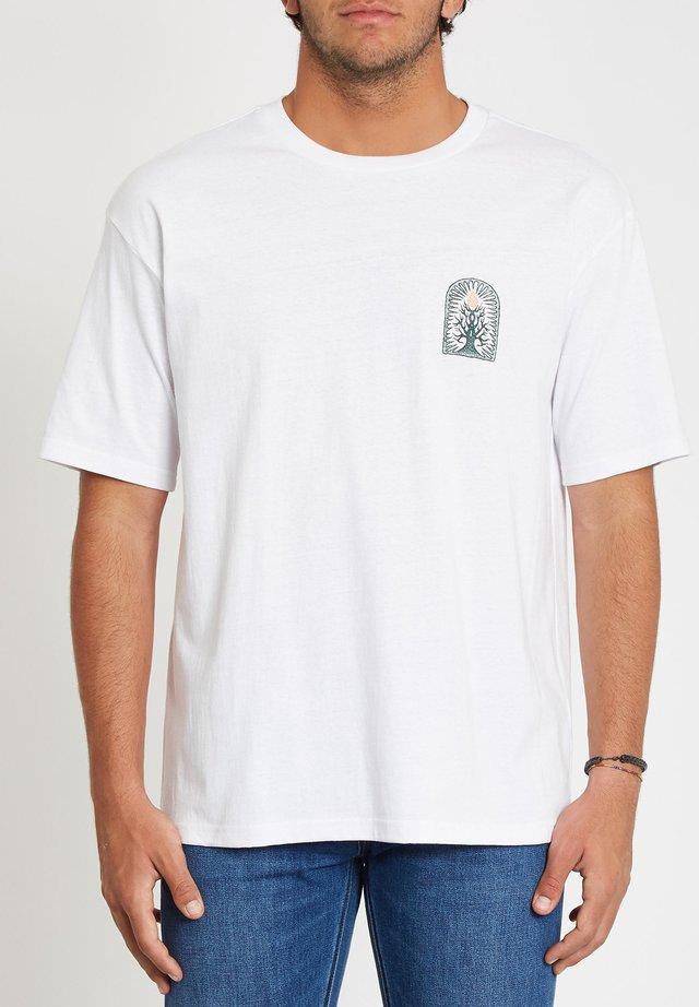 ROOTSY LSE SS - T-shirt imprimé - white