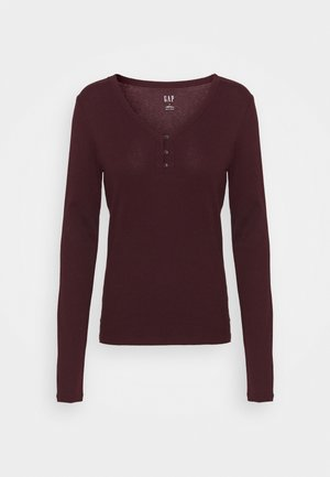 Long sleeved top - pinot noir