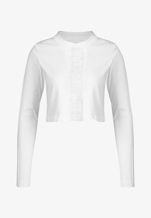 Long sleeved top - white/platinum