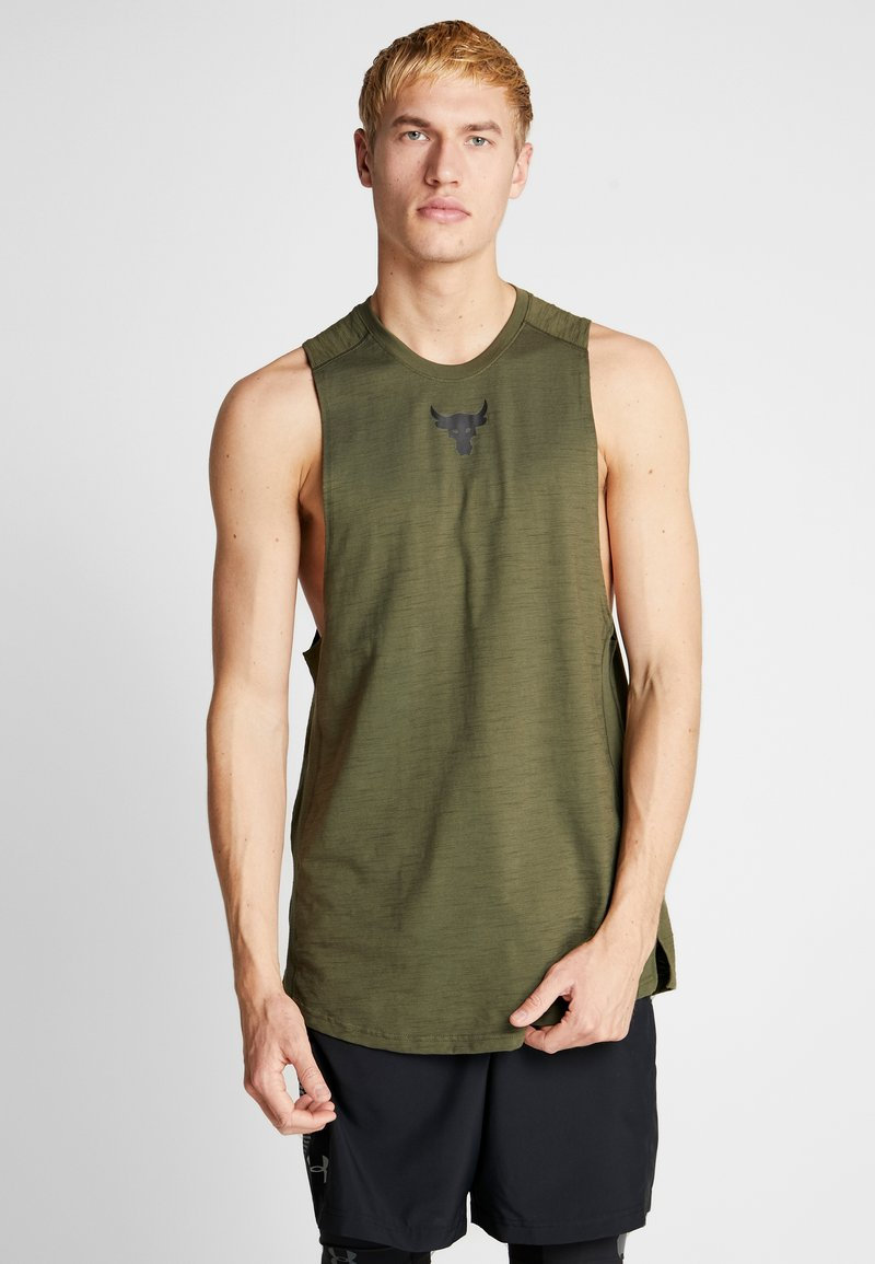 Under Armour - PROJECT ROCK CHARGED COTTON TANK - Top - guardian green/black