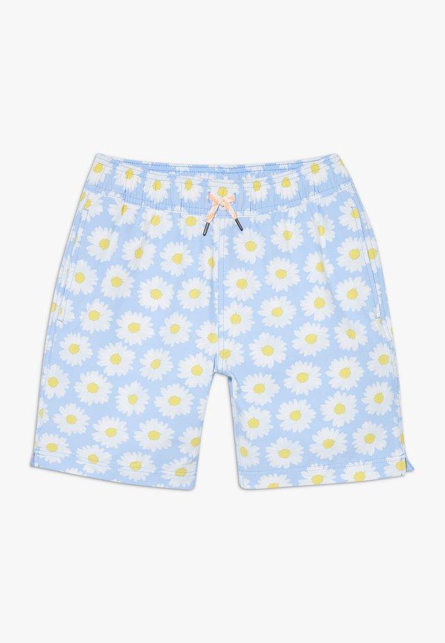 DAISY TRUNK - Swimming shorts - light blue white