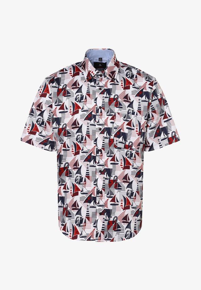 Shirt - weiß rot