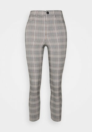 VMAUGUSTA CHECK - Trousers - black/white/yellow