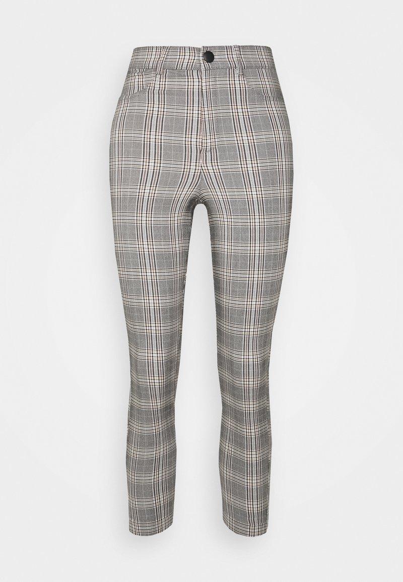 Vero Moda Petite - VMAUGUSTA CHECK - Trousers - black/white/yellow