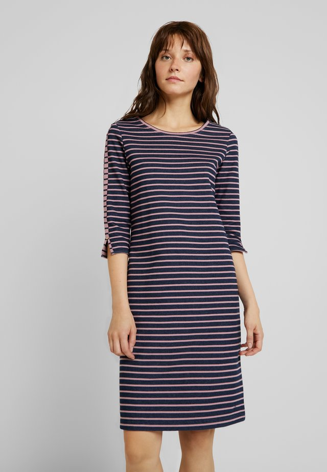 DAPHNE - Jersey dress - navy/lilas