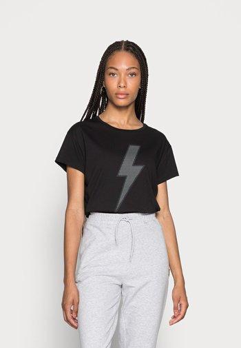 SALTI CHECK - Print T-shirt - black