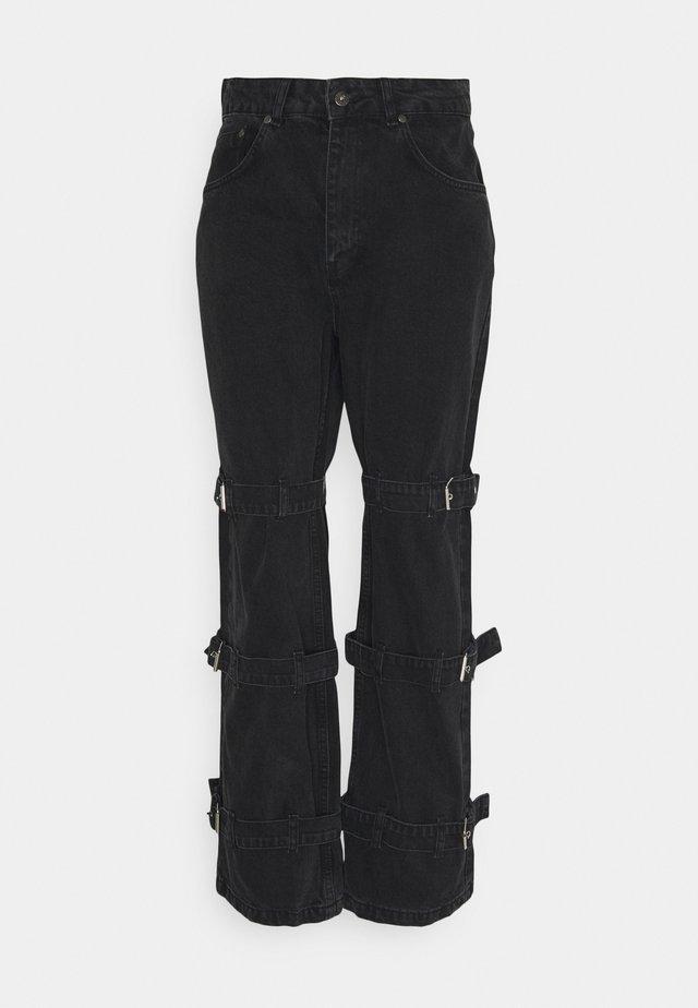 BUCK JEAN - Jeans straight leg - charcoal