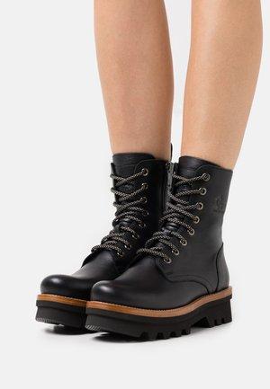 MIREN  - Šněrovací kotníkové boty - black