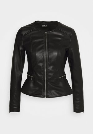 ONLJENNY JACKET - Faux leather jacket - black