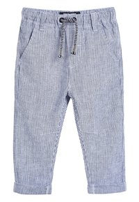 Next - STRIPE/PLAIN 2 PACK LINEN BLEND TROUSERS (3MTHS-7YRS) - Teplákové kalhoty - blue - 1
