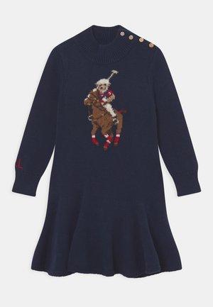 DAY DRESS - Strickkleid - navy/multi-coloured