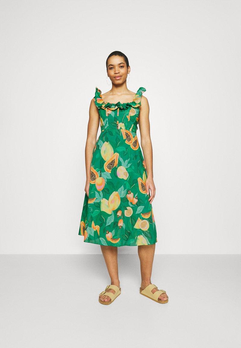 Farm Rio - PAPAYA SALAD MIDI DRESS - Day dress - multi coloured